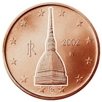 0,02 cents euro mole antonelliana